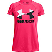 edecc46e Product Image · Under Armour Girls' Solid Big Logo T-Shirt