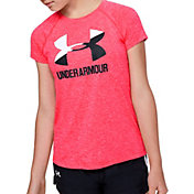 Under Armour Girls' Twist Print Big Logo GraphicT-Shirt