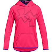 Under Armour Girls' Armour Fleece Dual Logo Graphic Hoodie