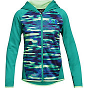 Under Armour Girls' Armour Fleece Printed Full Zip Hoodie