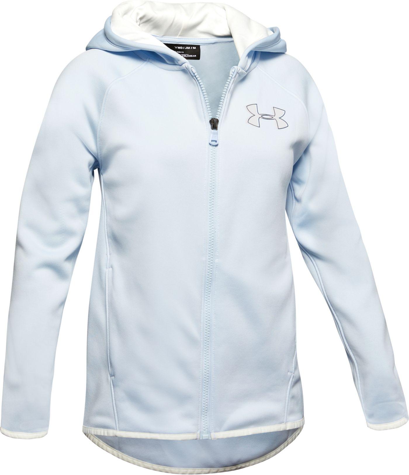 Under Armour Girls' Armour Fleece Full-Zip Hoodie