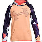 Under Armour Girls' Printed Armour Fleece Logo Hoodie