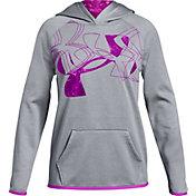 Under Armour Girls' Armour Fleece Print Filled Logo Hoodie