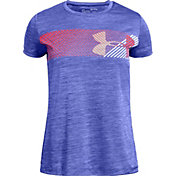 Under Armour Girls' Hybrid Big Logo T-Shirt