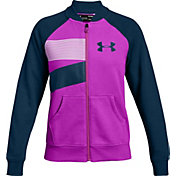 Under Armour Girls' Rival Fleece Bomber Jacket