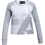 Under Armour Girls' Rival Fleece V-Neck Sweatshirt