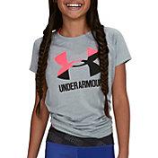 Under Armour Girls' Big Logo Graphic T-Shirt