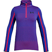 Under Armour Girls' Seamless 1/2 Zip Long Sleeve Shirt