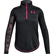 Under Armour Girls' Tech 1/2 Zip Long Sleeve Shirt