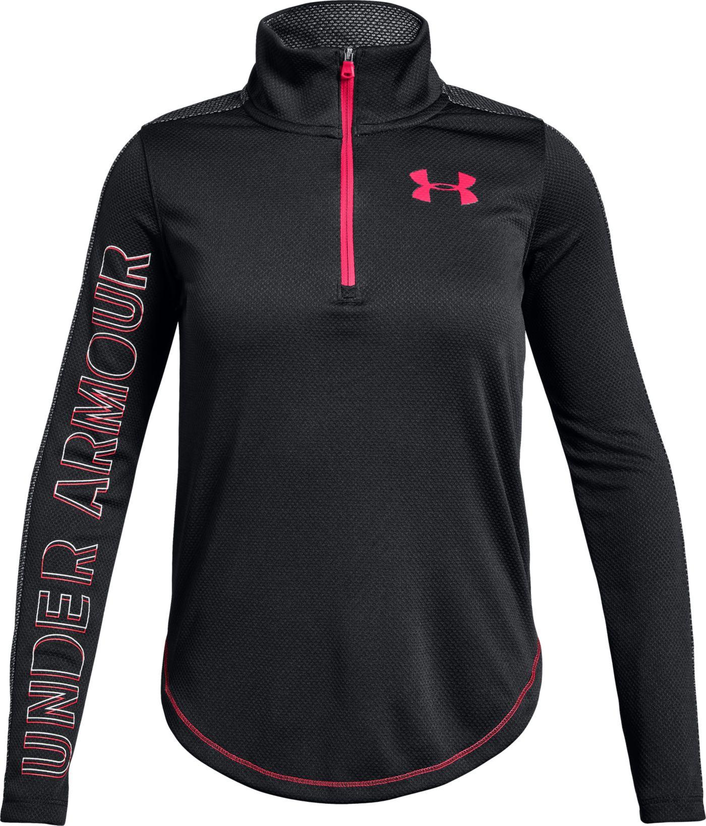 Under Armour Girls' Tech 1/2 Zip Long Sleeve Shirt