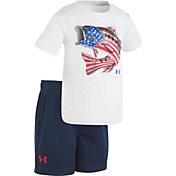 Under Armour Infant Boys' Flag Bass T-Shirt/Short Set