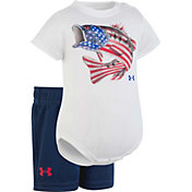 Under Armour Newborn Boys' Flag Bass Onesie/Short Set