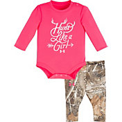Under Armour Newborn Girls' Hunt Like a Girl Long Sleeve Onesie and Pant Set