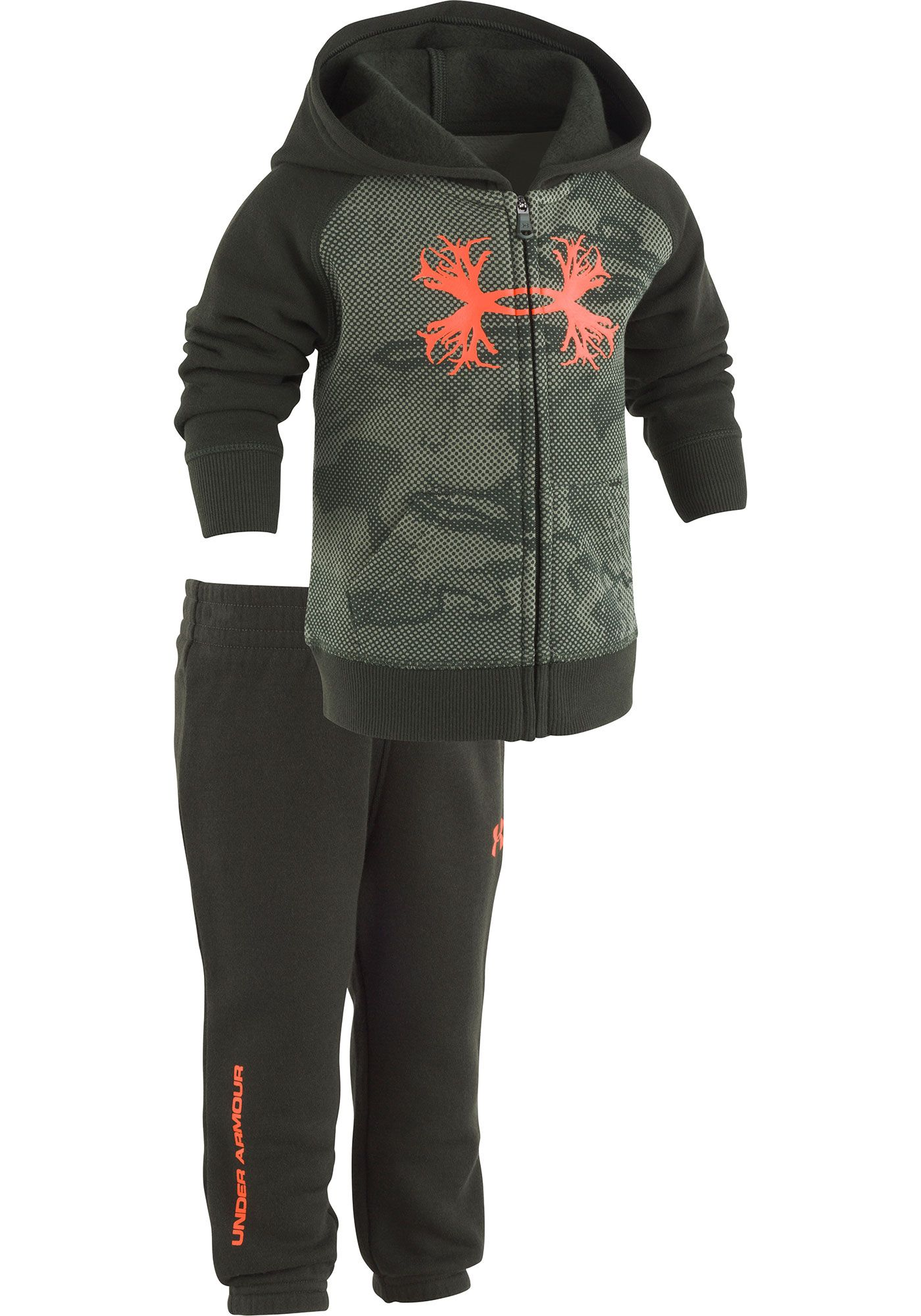 Under Armour Newborn Boys' Rival Fleece Reaper Full-Zip Hoodie and Pant Set