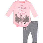 Under Armour Newborn Girls' Wild at Heart Long Sleeve Onesie and Pant Set