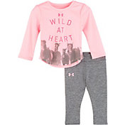 Under Armour Infant Girls' Wild at Heart Long Sleeve Onesie/Pant Set