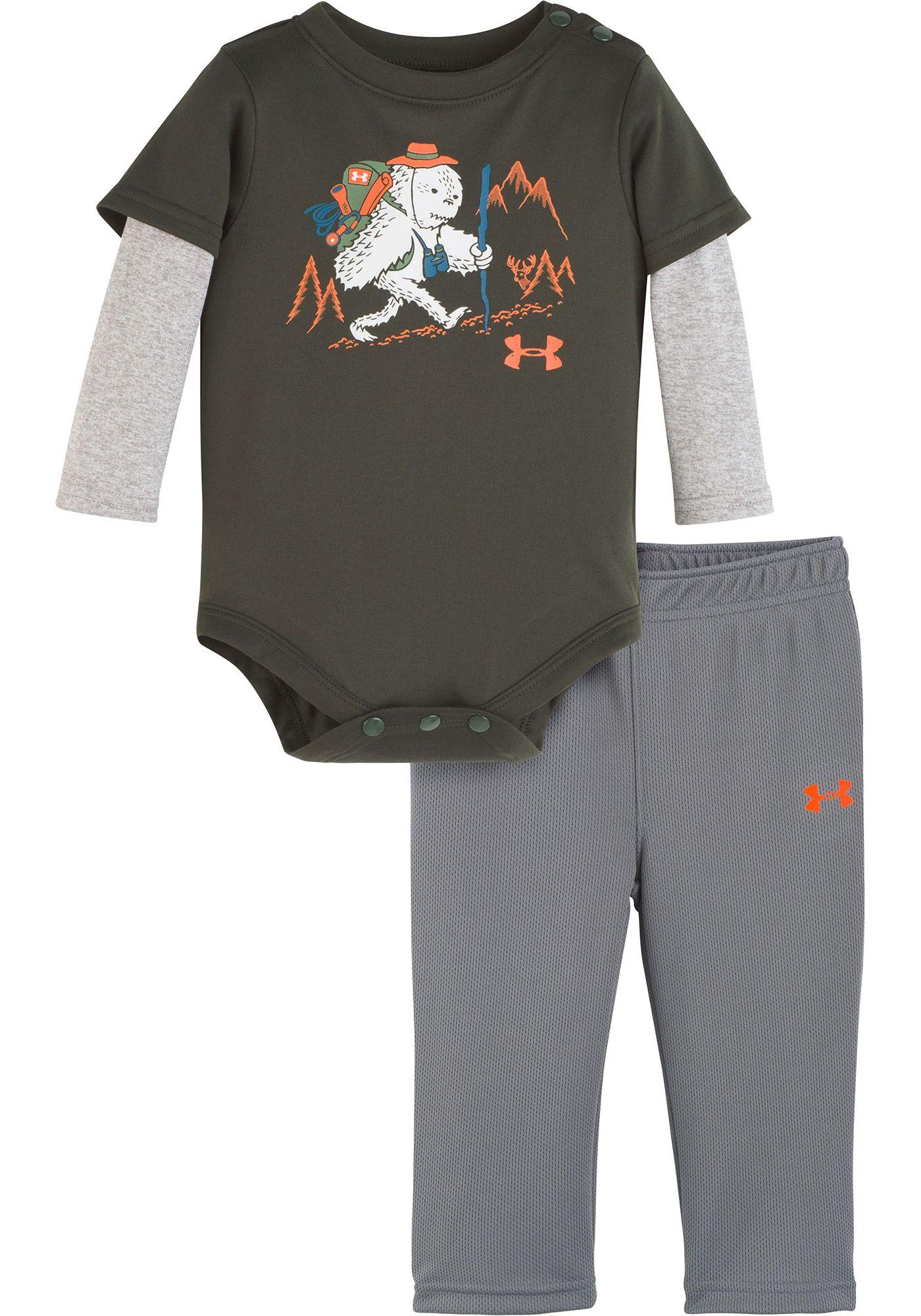Under Armour Newborn Boys' Yeti Hiker Onesie and Pant Set
