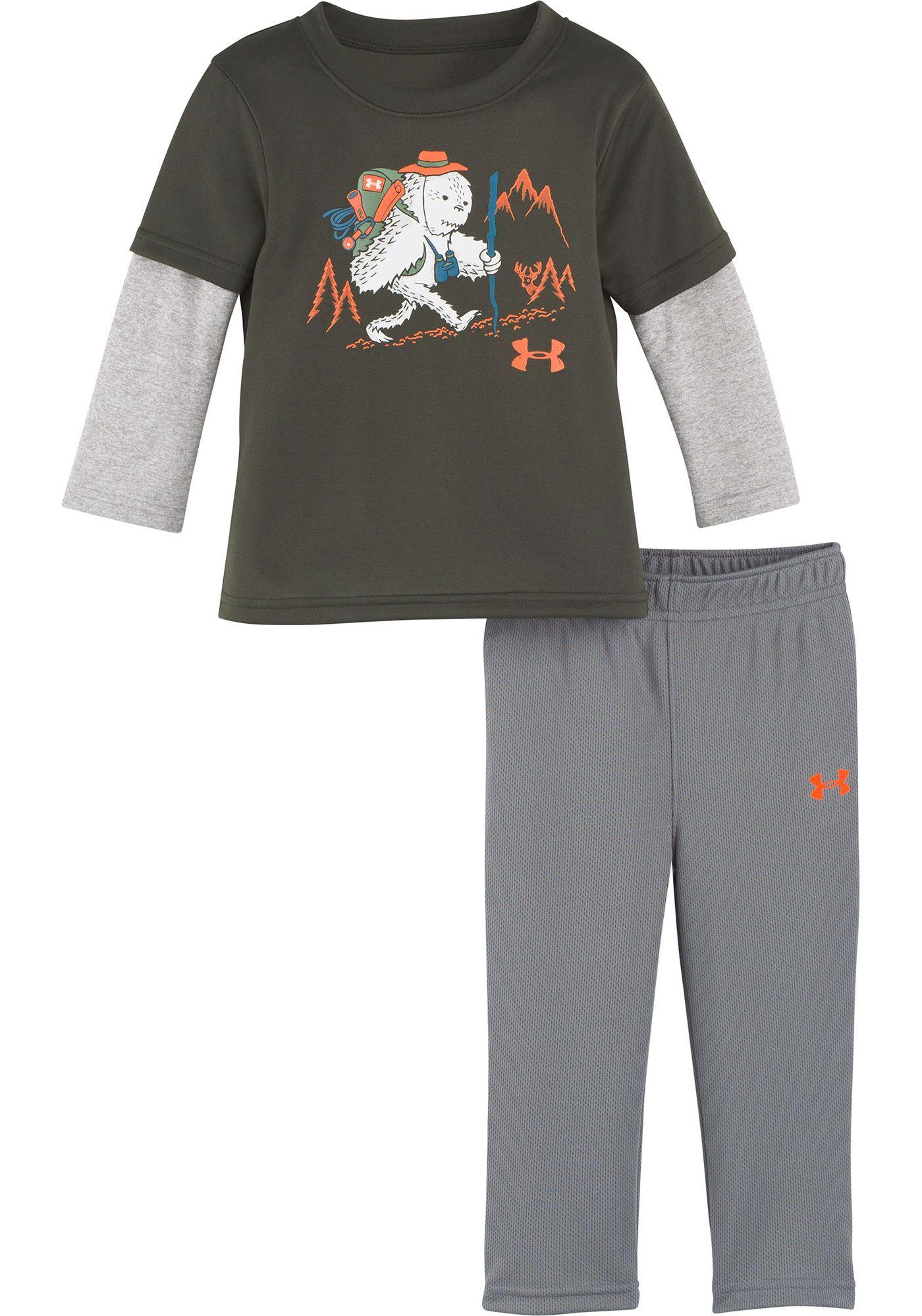Under Armour Infant Boys' Yeti Hiker Long Sleeve Shirt and Pant Set