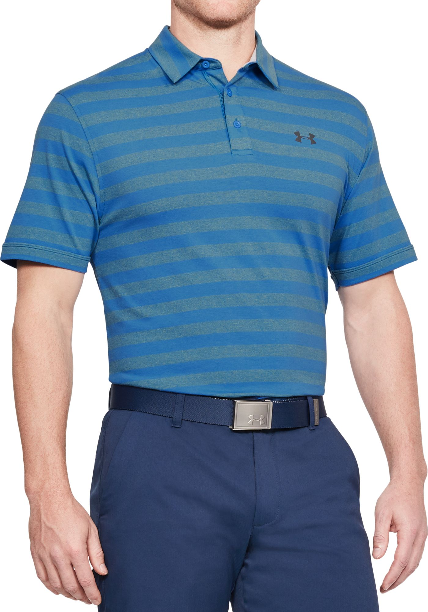 Under Armour Men's Charged Cotton Scramble Stripe Golf Polo