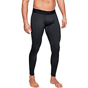Under Armour Men's ColdGear Compression Leggings (Regular and Big & Tall) in Black/Charcoal