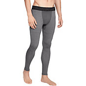 Under Armour Men's ColdGear Compression Leggings (Regular and Big & Tall) in Charcoal/Black