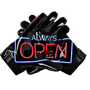 Under Armour Adult F6 Limited Edition Football Receiver Gloves in Always Open Red