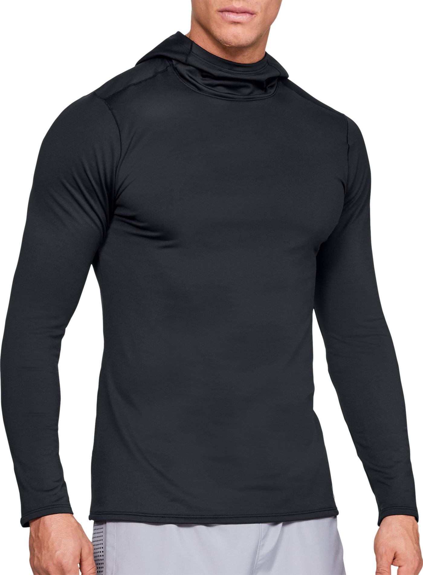 Under Armour Men's ColdGear Fitted Hooded Long Sleeve Shirt (Regular and Big & Tall)