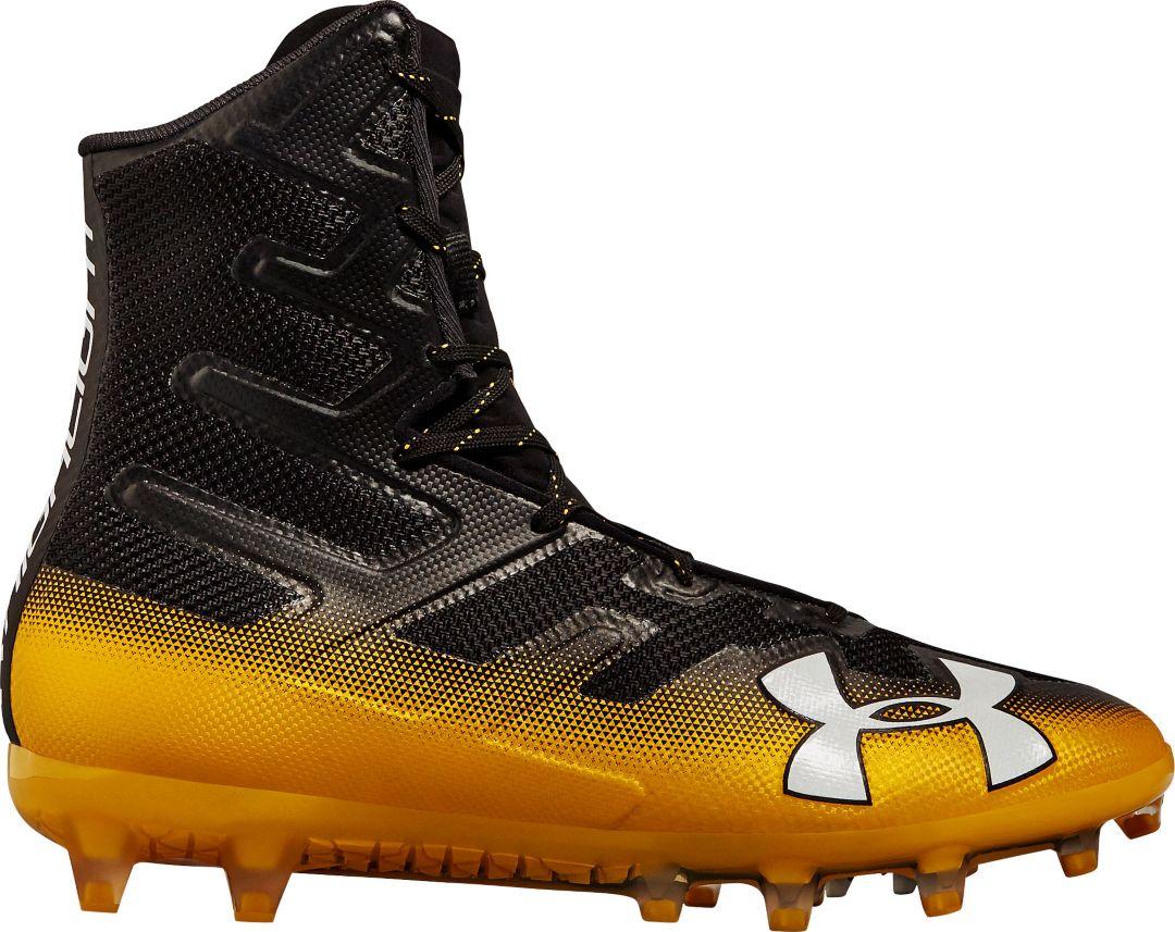 002 13 3000177 Black /White Under Armour Mens Highlight MC Football Shoe