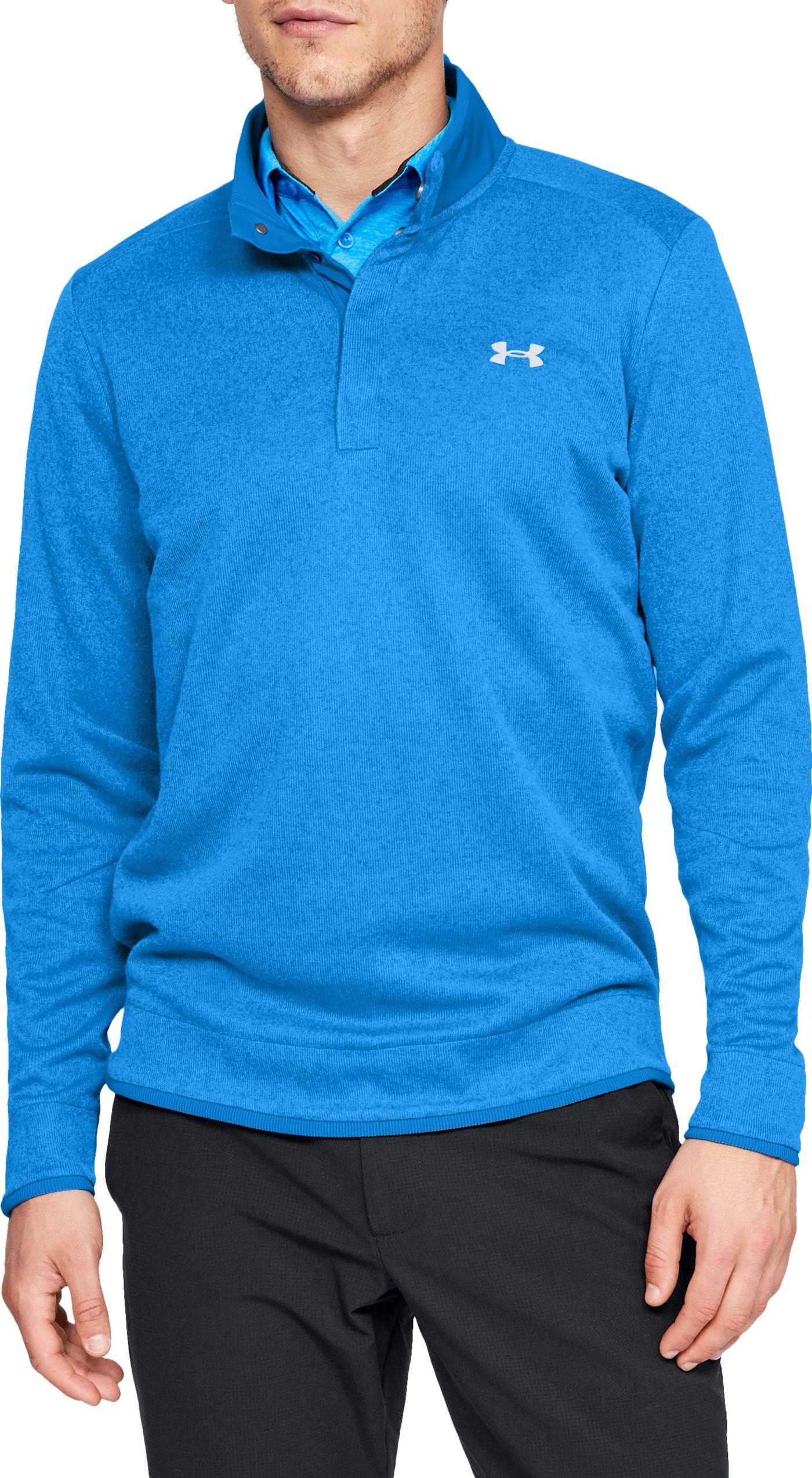 Under Armour Men's SweaterFleece Snap Mock Golf Pullover
