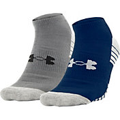 Under Armour Men's Heatgear No Show Socks - 2 Pack