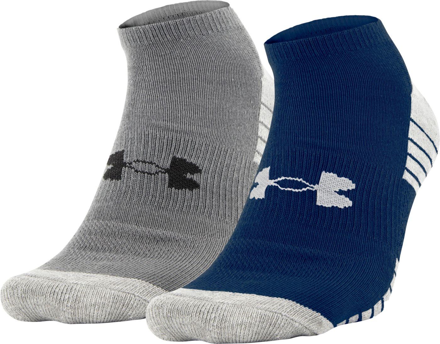 Under Armour Men's Heatgear No Show Socks - 2 Pack