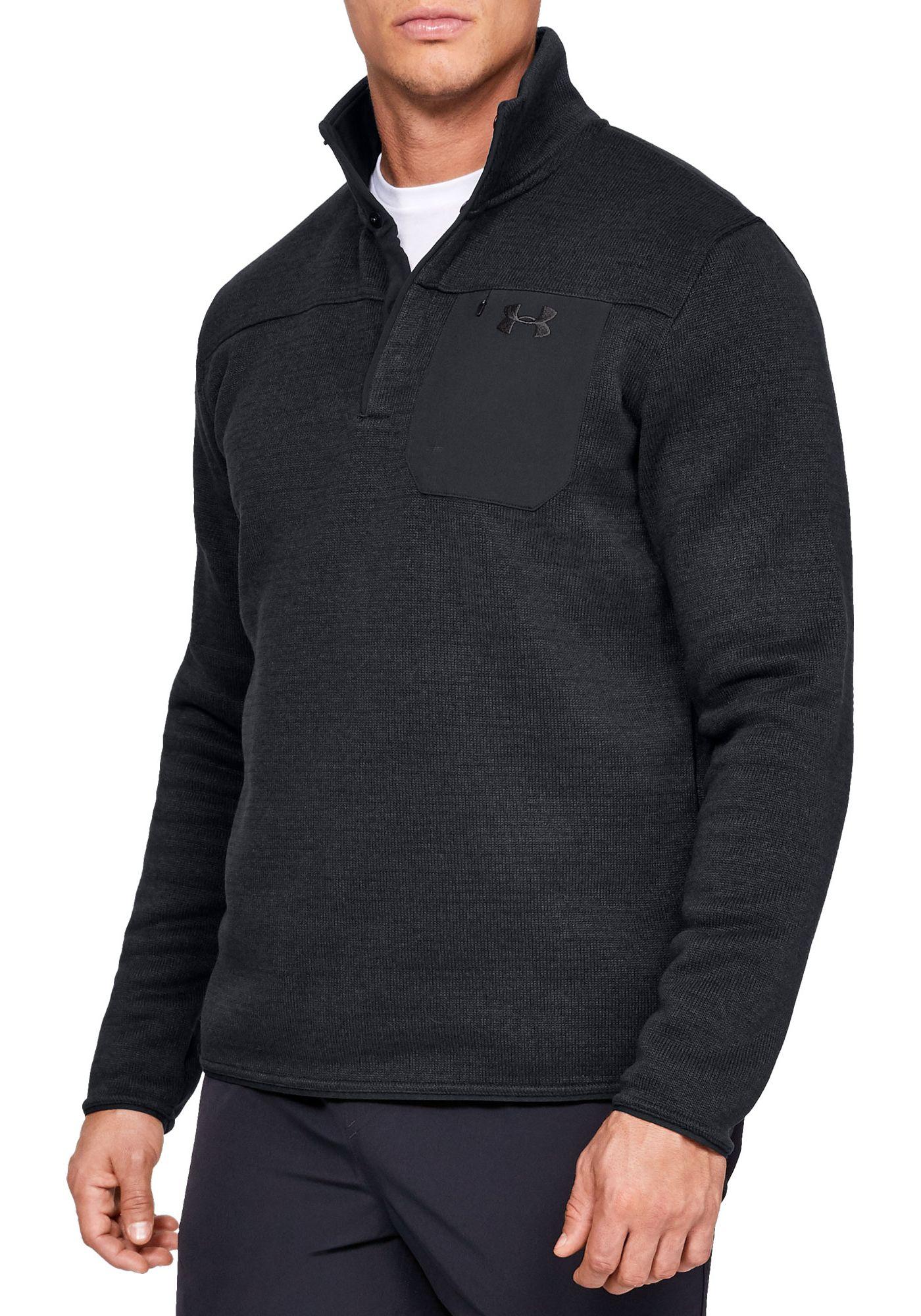 Under Armour Men's Sweaterfleece Henley Long Sleeve Shirt (Regular and Big & Tall)