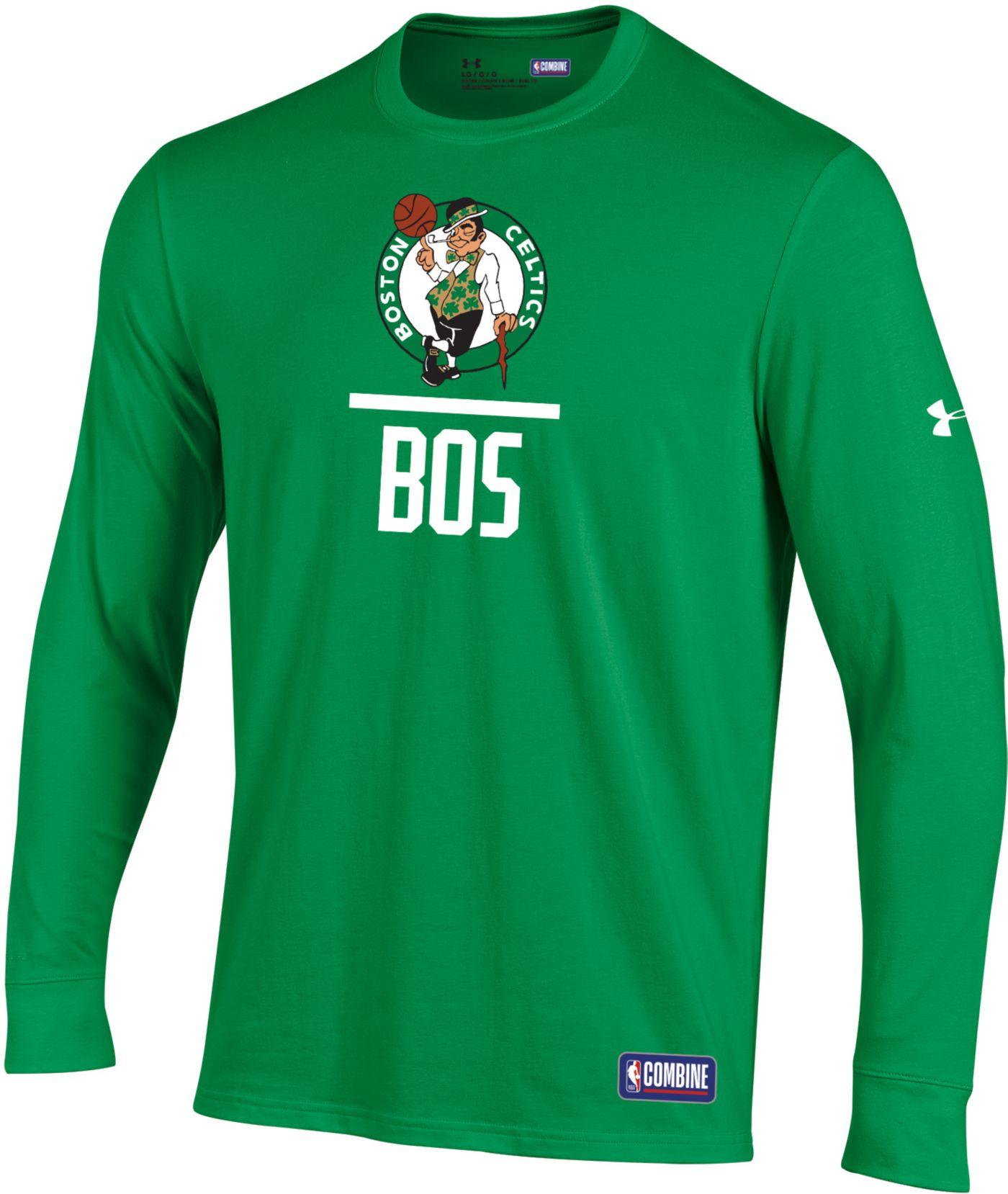 Under Armour Men's Boston Celtics Lockup Long Sleeve Shirt