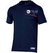 Under Armour Men's Philadelphia 76ers Short Sleeve Hooded Shirt