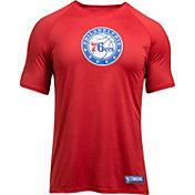 Under Armour Men's Philadelphia 76ers Red T-Shirt