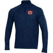 Under Armour Men's Auburn Tigers Grey Charged Cotton Quarter-Zip Shirt