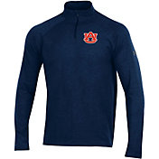 Under Armour Men's Auburn Tigers Blue Charged Cotton Quarter-Zip Shirt