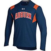 Under Armour Men's Auburn Tigers Blue Long Sleeve Shooter T-Shirt