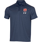 Under Armour Men's Auburn Tigers Blue Pinnacle Performance Polo