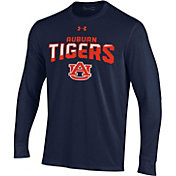 Under Armour Men's Auburn Tigers Blue Performance Cotton Long Sleeve T-Shirt