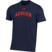 Under Armour Men's Auburn Tigers Blue Performance Cotton T-Shirt