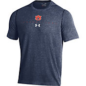 Under Armour Men's Auburn Tigers Blue Sideline Football Performance T-Shirt
