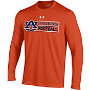 Under Armour Men's Auburn Tigers Orange Charged Cotton Long Sleeve Football T-Shirt