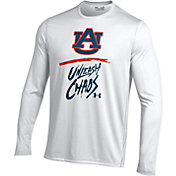 Under Armour Men's Auburn Tigers 'Unleash Chaos' Bench Tech Long Sleeve White T-Shirt