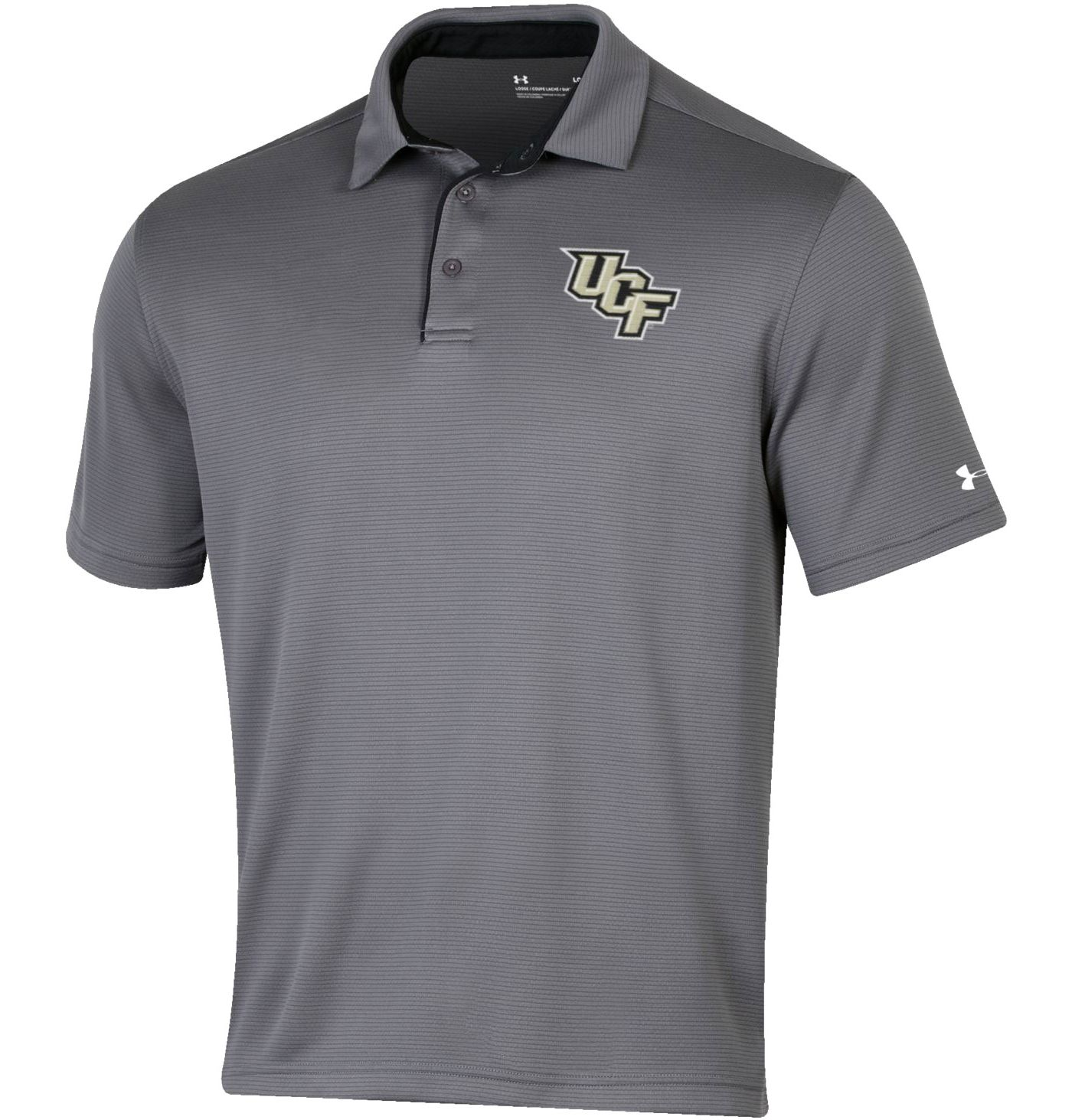 Under Armour Men's UCF Knights Grey Tech Polo