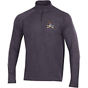 Under Armour Men's East Carolina Pirates Grey Charged Cotton Quarter-Zip Shirt