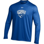 Under Armour Men's Christopher Newport Captains Royal Blue Long Sleeve Tech Performance T-Shirt