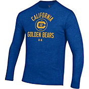 Under Armour Men's Cal Golden Bears Blue Tri-Blend Performance Long Sleeve T-Shirt