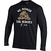 Under Armour Men's Cincinnati Bearcats Military Appreciation Long Sleeve Black T-Shirt