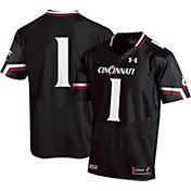 Under Armour Men's Cincinnati Bearcats #1 Replica Football Black Jersey